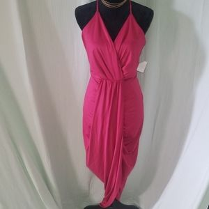 Charlotte Russe Draped Red Evening Dress - XL